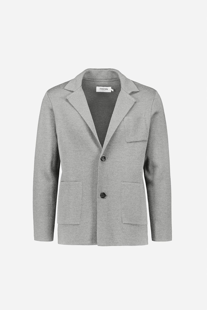 FRENN Elias extra fine merino wool cardigan jacket grey