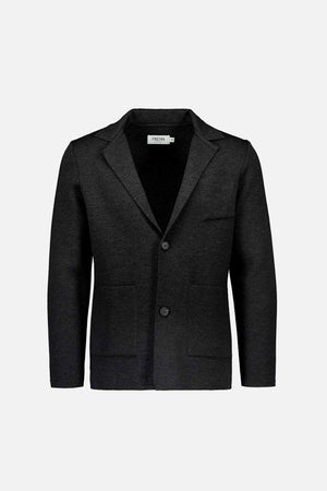 Elias extra fine merino wool cardigan jacket dark grey anthracite
