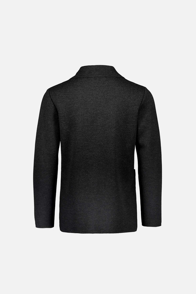 Load image into Gallery viewer, Elias extra fine merino wool cardigan jacket dark grey anthracite