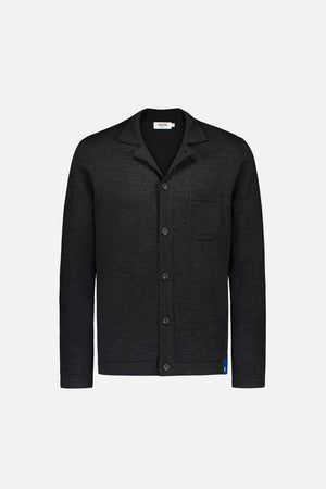 FRENN Eero extra fine merino wool knit shirt anthracite