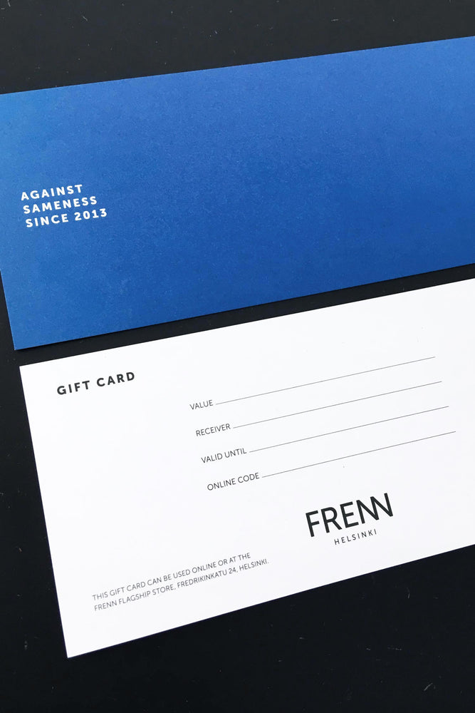 FRENN gift card for your loved one in-store and online