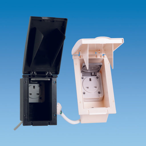 Powerpoint 13 Amp 240 Volt Mains Outlet Socket Box With Satellite Point