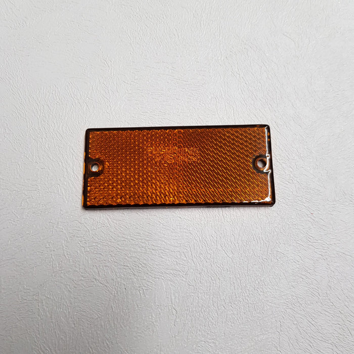 Screw On Rectangular Orange Reflector