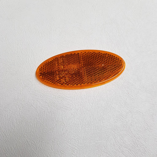 Oval Orange Reflector Self Adhesive