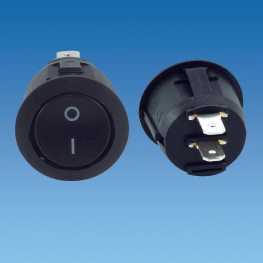 Black Circular On / Off Rocker Switch
