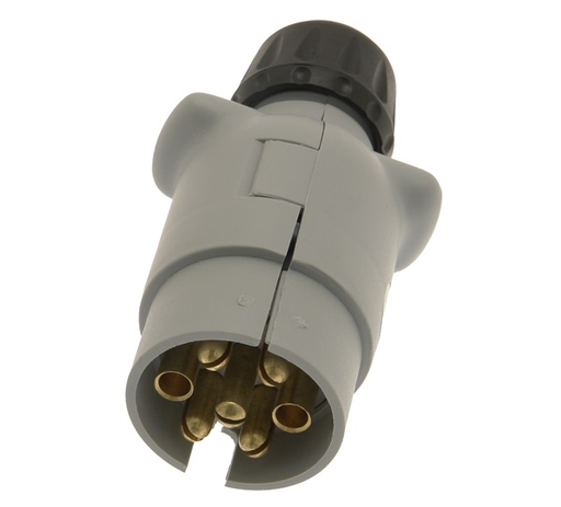 7 Pin 12S Plug Grey Plastic