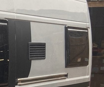 Camper Conversion Window For Side Panel Above sliding Door Rail