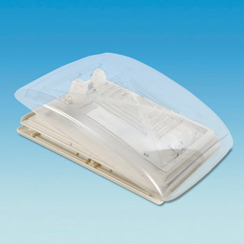 MPK Clear Rooflight In Beige With Flynet & Blind 400mm x 400mm