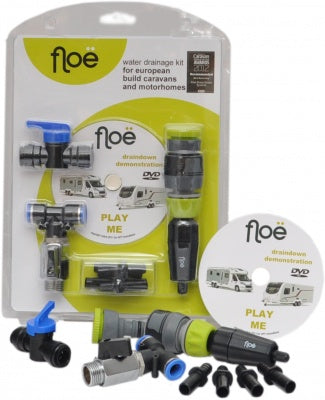 Floe European Caravan Or Motorhome With Onboard Water Tank Drainage Kit