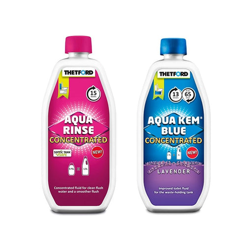 Thetford Aqua Kem Blue & Aqua Rinse Concentrated Duo Pack