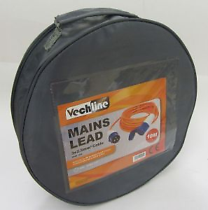 Vechline 10 Metre Mains Hook Up lead With Carry Bag