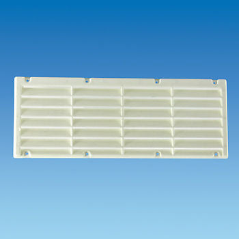White Plastic Fridge Vent 360mm x 140mm