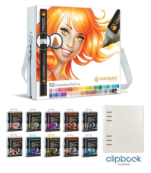 Chameleon Bundle - All 52 Chameleon Pens, 50 Color Tops with bonus A5 Clipbook by Filofax