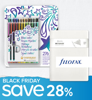 Black Friday Bundle - 24 Chameleon Fineliners & Filofax Notebook