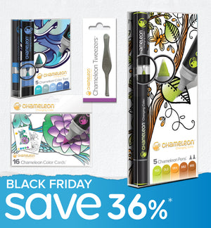 Black Friday Bundle - Chameleon Pens, Color Tops, Color Cards & Tweezers