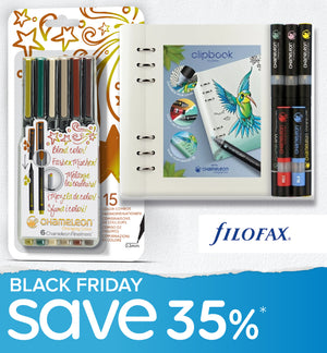 Black Friday Bundle - Chameleon + Filofax Gift Set & Chameleon Fineliners