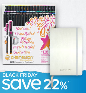 Black Friday Bundle - 48 Chameleon Fineliners & Bullet Journal