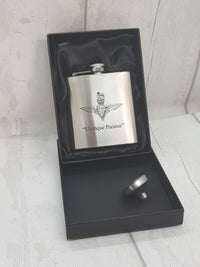 Parachute Regiment engraved hip flask