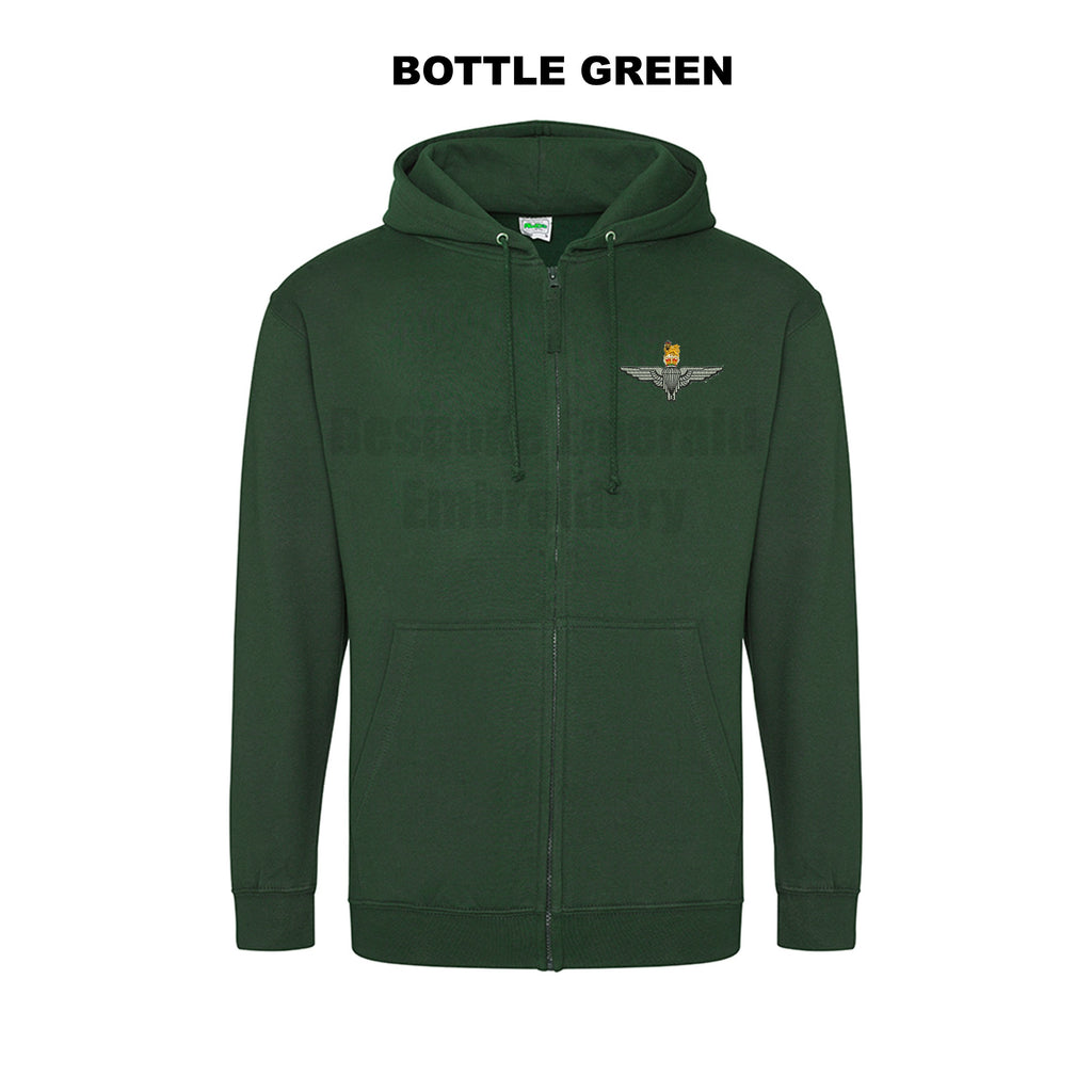 JH050 - Zip through hooded jacket - Para Cap-badge - Bespoke Emerald Embroidery Ltd