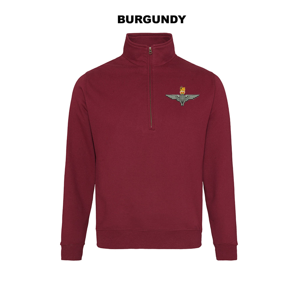 JH046 - Zip neck sweatshirt - Bespoke Emerald Embroidery Ltd