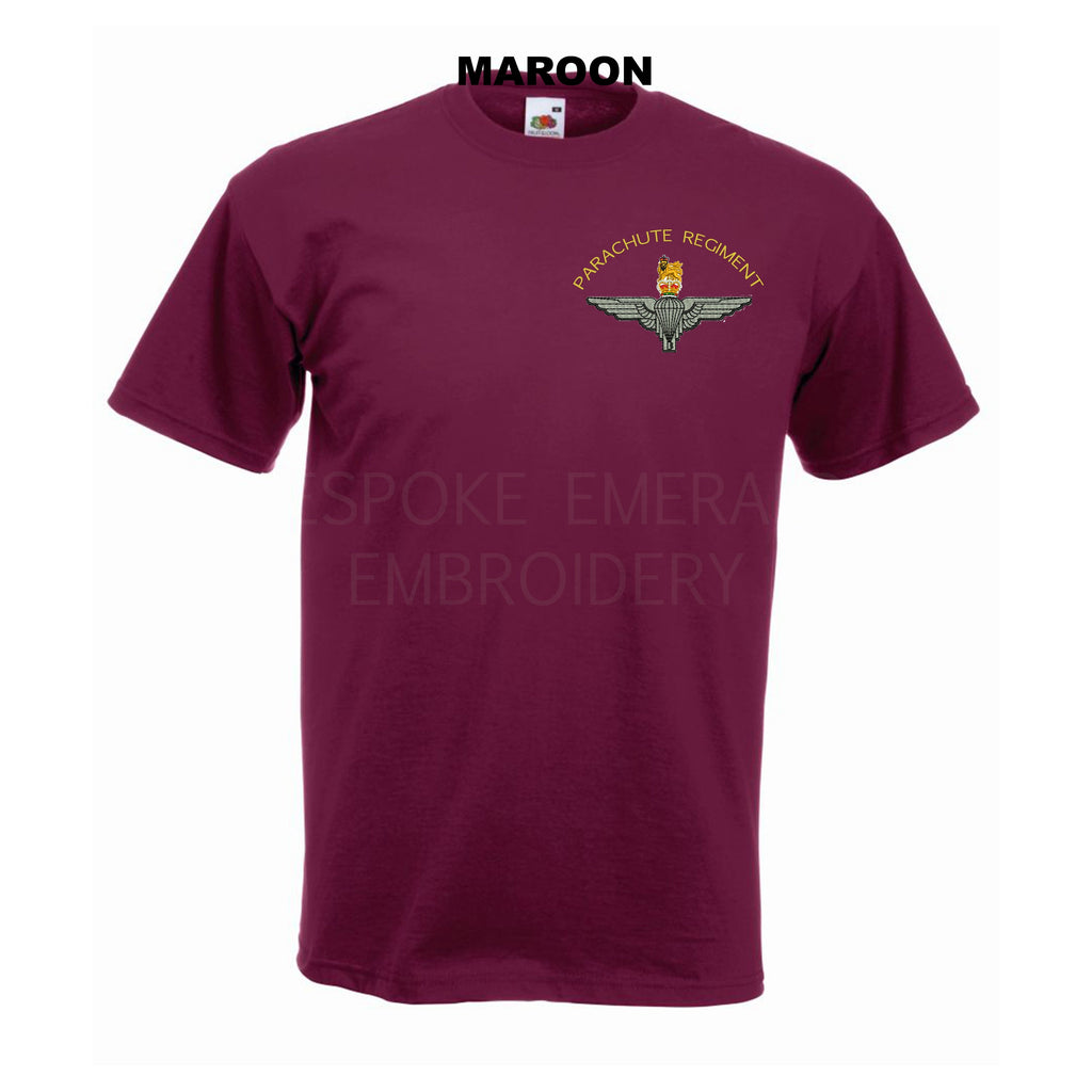 GD02 - Parachute Regiment Premium Quality Embroidered T-Shirt - Bespoke Emerald Embroidery Ltd