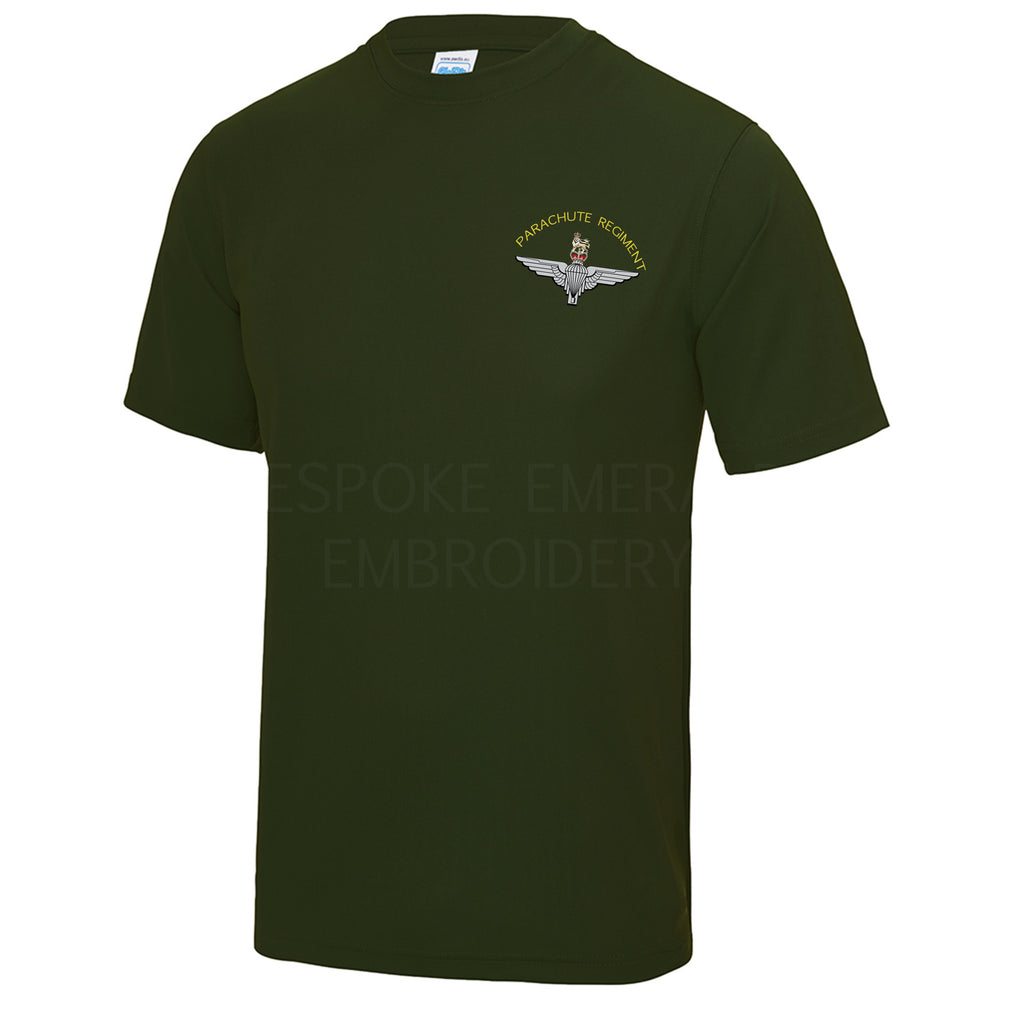 JC001 - Parachute Regiment Cool Wicking T-shirt - Bespoke Emerald Embroidery Ltd