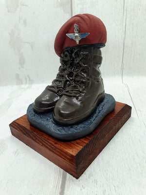 Beret and Boots gift - Parachute Regiment - Bespoke Emerald Embroidery Ltd