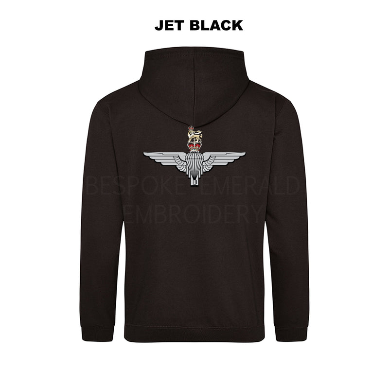 JH001-LCB- Large Cap-badge Parachute Regiment hoodie - Bespoke Emerald Embroidery Ltd