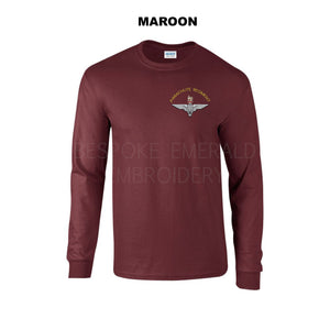 GD14 - Parachute regiment Long sleeve T-shirt - Bespoke Emerald Embroidery Ltd