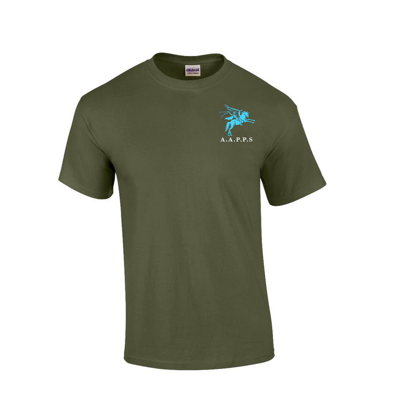 GD02 - All Arms Premium Quality Pegasus Embroidered T-Shirt - Bespoke Emerald Embroidery Ltd
