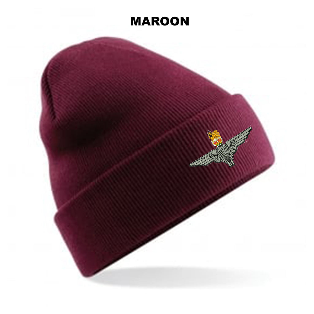 BB45 - Parachute Regiment Beanie Hat - Bespoke Emerald Embroidery Ltd