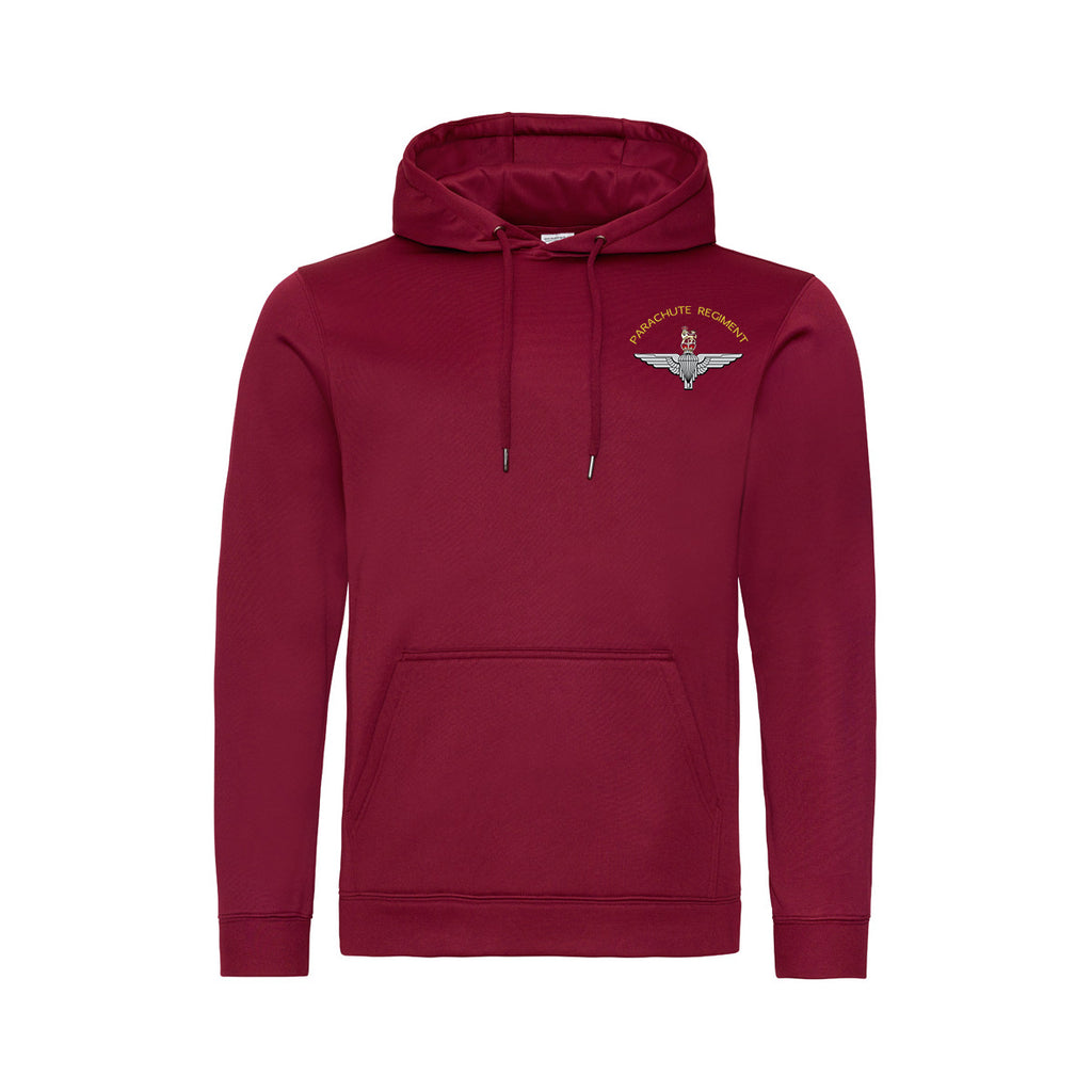JH006 - Parachute Regiment Polyester Hooded Sweatshirt - Bespoke Emerald Embroidery Ltd