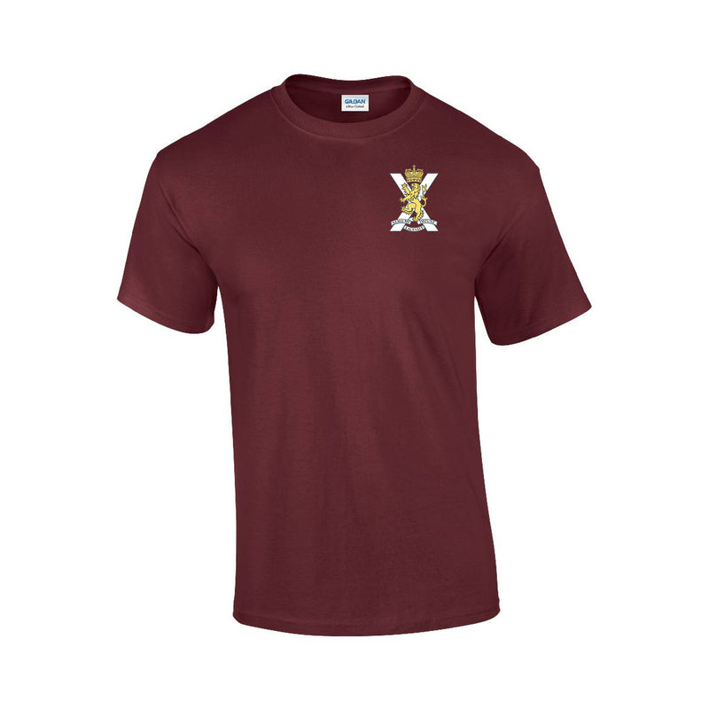 GD02 - Royal Regiment Of Scotland Premium Quality Embroidered T-Shirt - Bespoke Emerald Embroidery Ltd