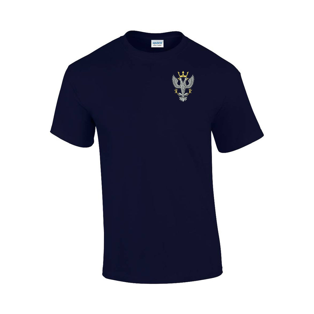 GD02 - Mercian Regiment Premium Quality Embroidered T-Shirt - Bespoke Emerald Embroidery Ltd