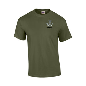 GD02 - The Rifles Premium Quality Embroidered T-Shirt - Bespoke Emerald Embroidery Ltd