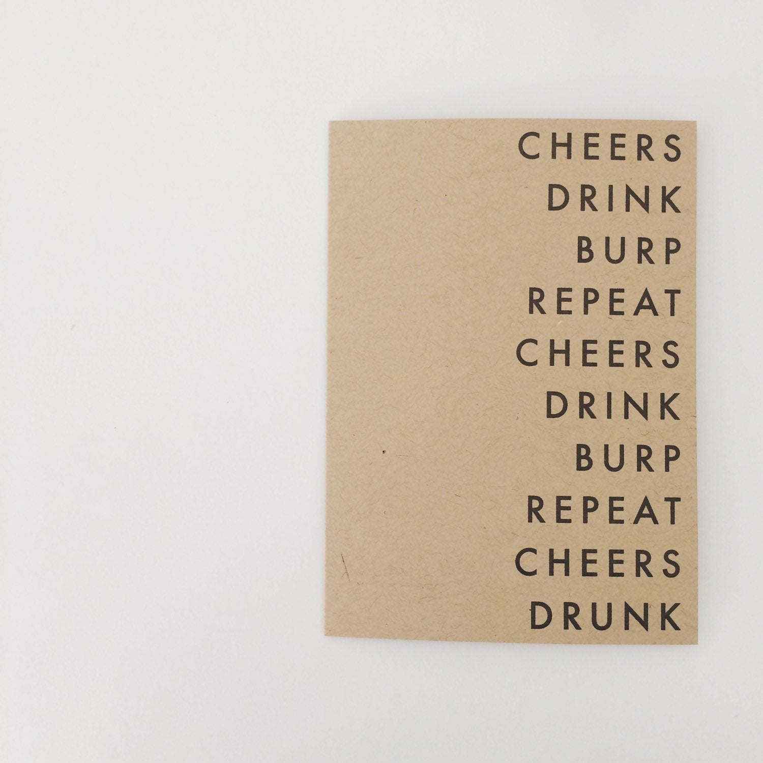Cheers Drink Burp Repeat | Birthday card | Any occasion to drink card