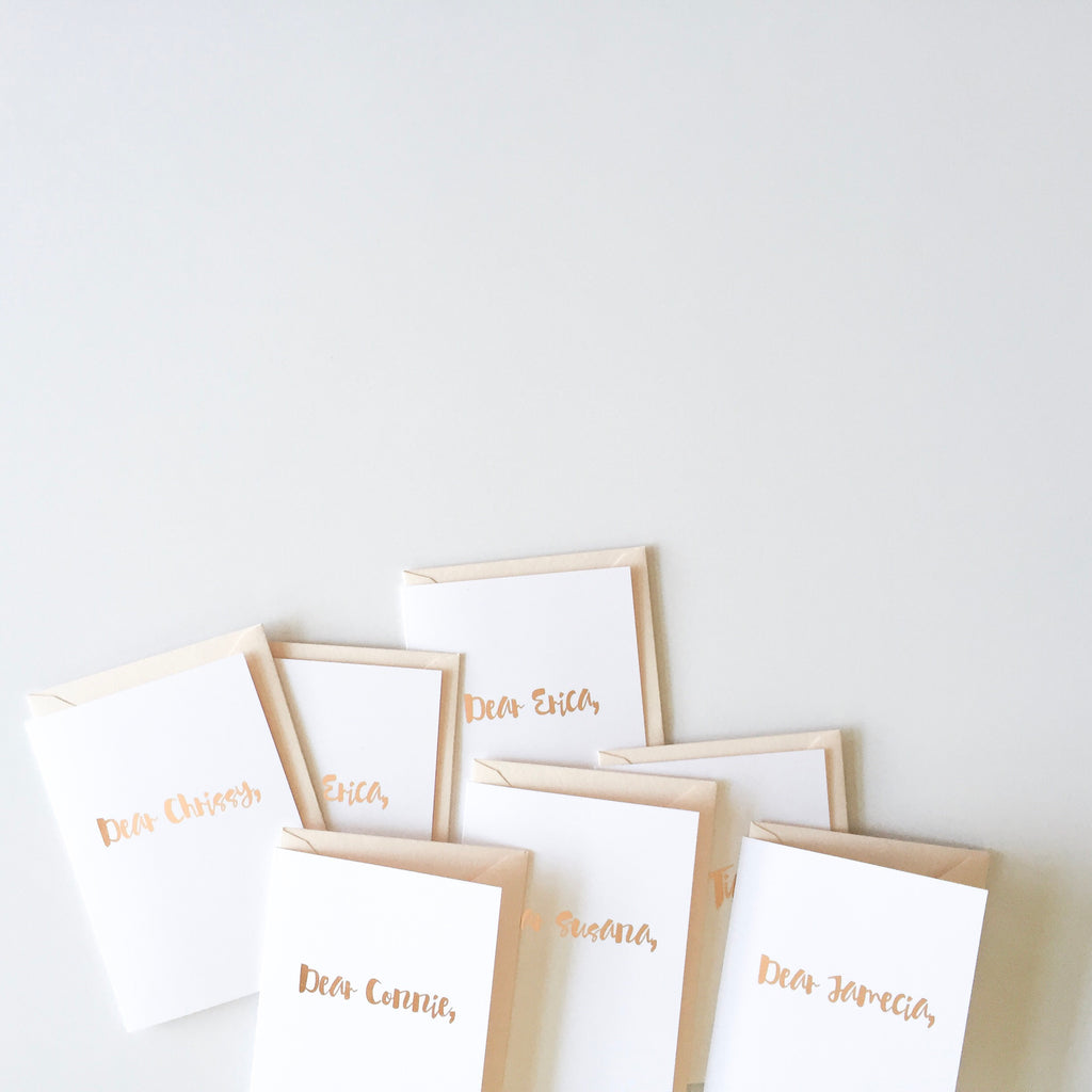 Custom bridesmaid or groomsman cards