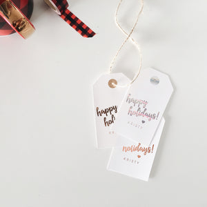 Personalized Holiday Gift Tags | Set of 6