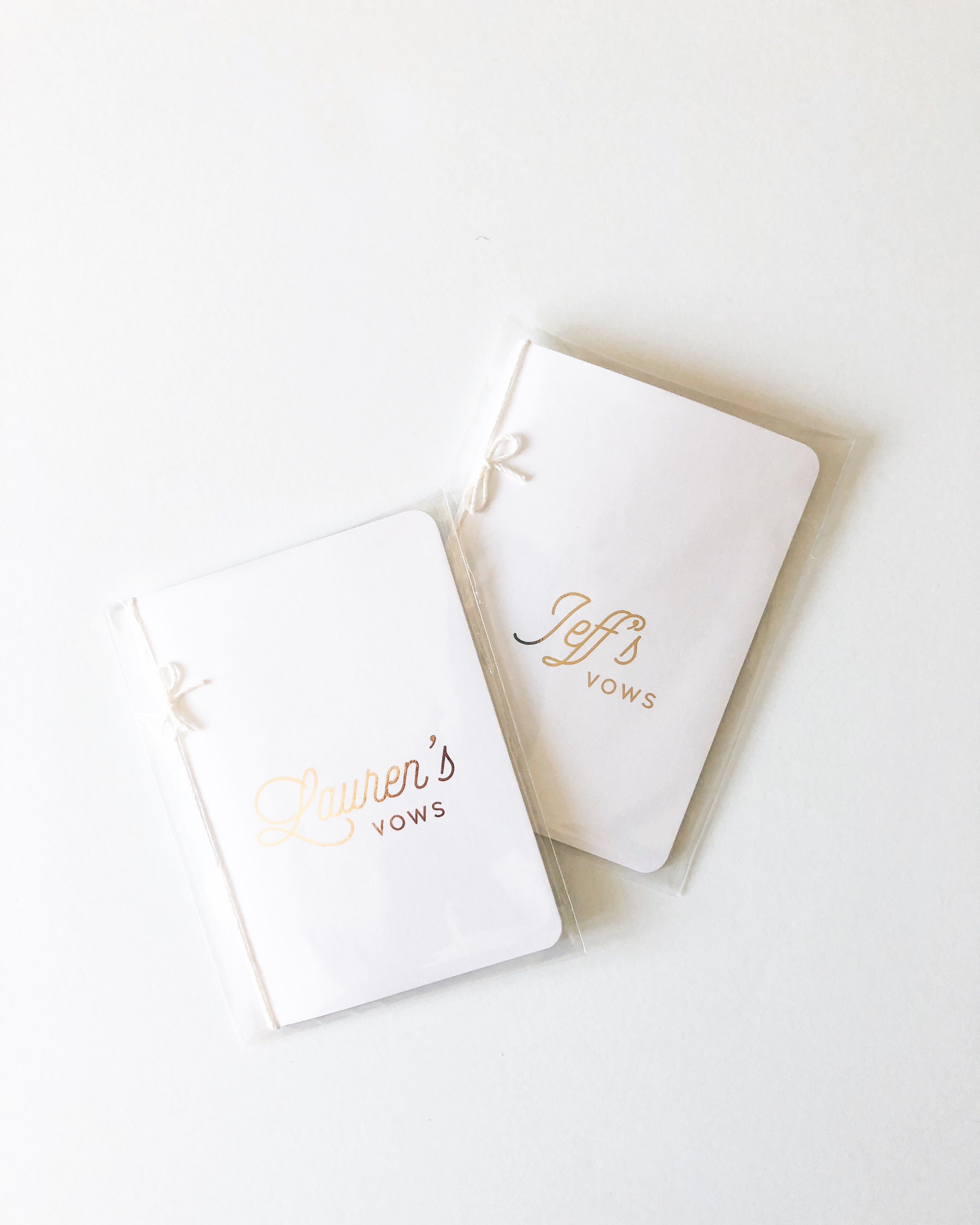 Foiled Personalized Wedding Vow Books