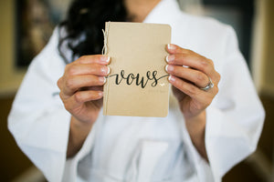 Personalized Wedding Vow Books Set of 2