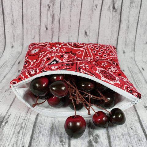 Red Bandanna Reusable Food Bag