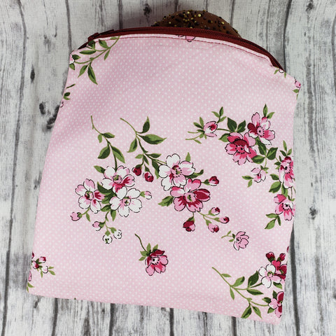 Rose and Pink Flowers Reusable Food Bag