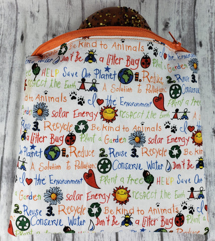 Reduce, Reuse, Recycle Reusable Food Bag
