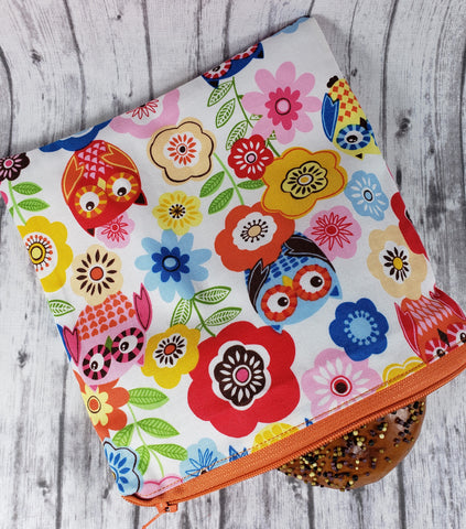 Owls and Flowers Reusable Food Bag