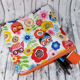 Owls and Flowers Reusable Food Bag - Kool Catz Stuff
