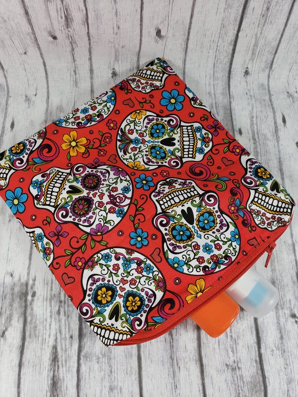 Sugar Skulls in Red Reusable Food Bag - Kool Catz Stuff