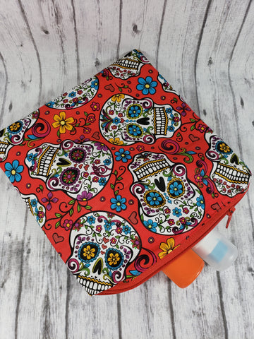 Sugar Skulls in Red Reusable Food Bag