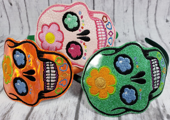 Sugar Skull Headband Slider - Kool Catz Stuff