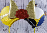 Beauty & The Beast Mouse Ears/Headband - Kool Catz Stuff
