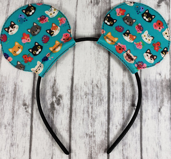 Cat Designed Vinyl Mouse Ears/Headband - Kool Catz Stuff